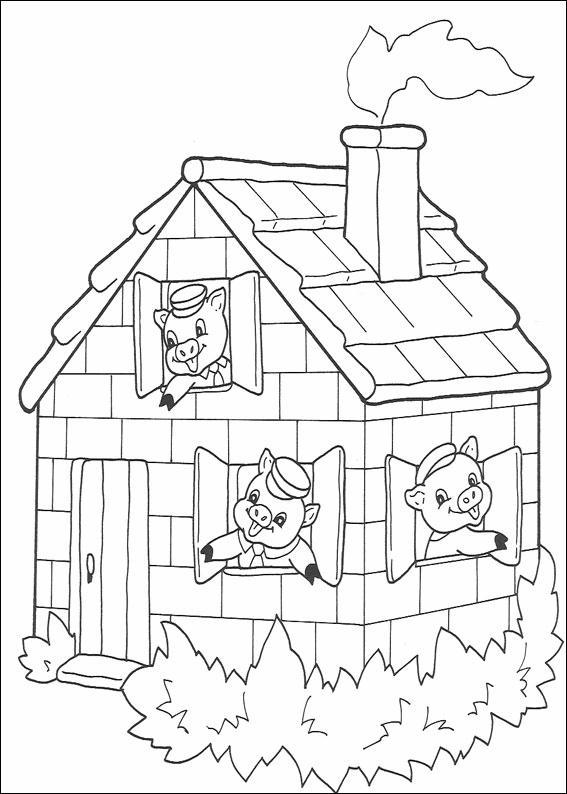 3 porcellini 3 disegni per bambini da colorare for Cedro agitare disegni per la casa