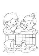 4 5 anni 12 disegni per bambini da colorare - Bambini in piscina a 3 anni ...