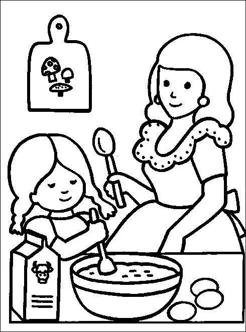 6 7 anni 12 disegni per bambini da colorare for Cucinare per bambini 7 anni