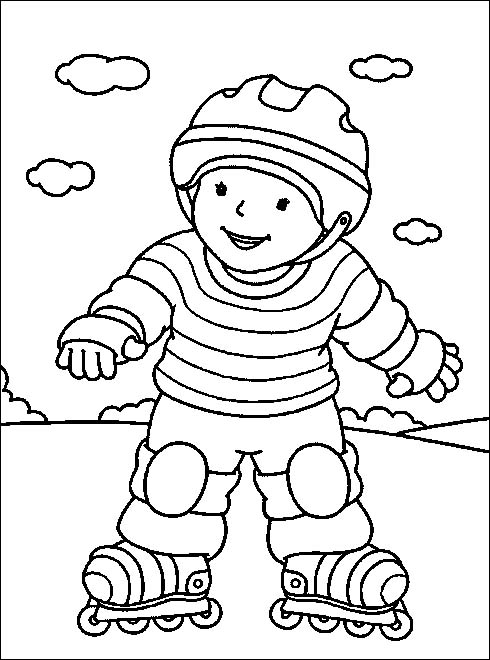 6 7 anni 13 disegni per bambini da colorare for Disegni sport da colorare