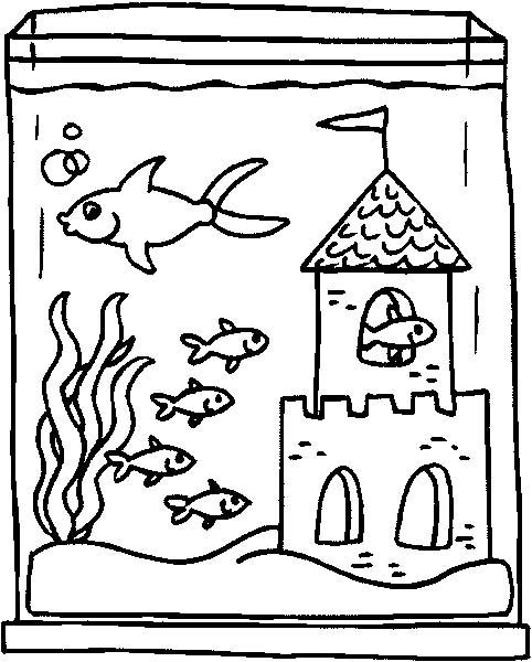 Acquari pesciolini 2 disegni per bambini da colorare for Disegni pesciolini da colorare