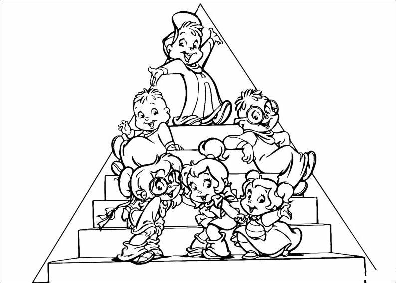 Alvin 3 disegni per bambini da colorare for Alvin da colorare