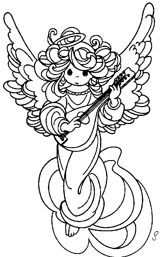 Angeli 3 disegni per bambini da colorare for Disegni angeli da colorare gratis
