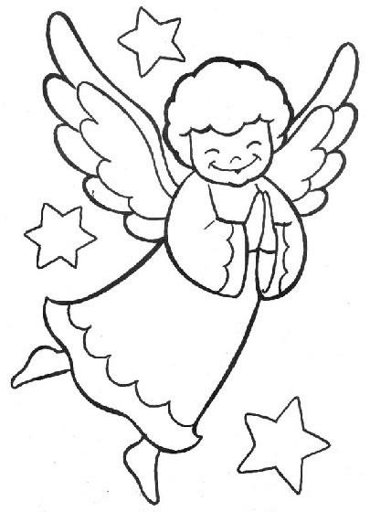 Angeli disegni per bambini da colorare for Figure di angeli da stampare