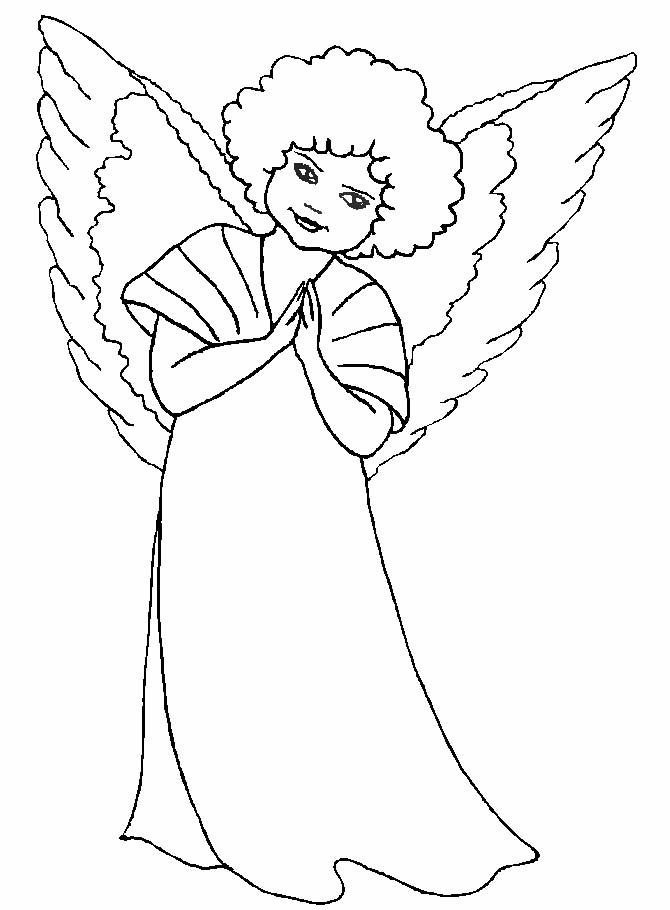 Angeli natale 4 disegni per bambini da colorare for Angeli per bambini da colorare