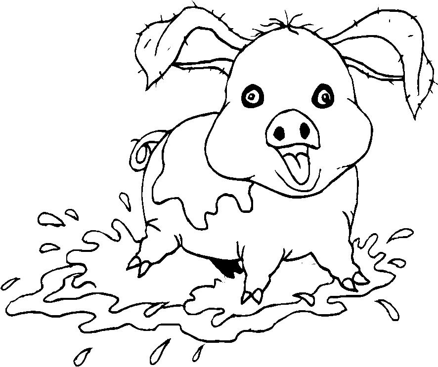 Animali fattoria disegni per bambini da colorare for Fattoria immagini da colorare