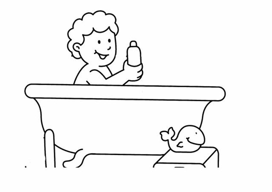 Bagno 3, Disegni per bambini da colorare