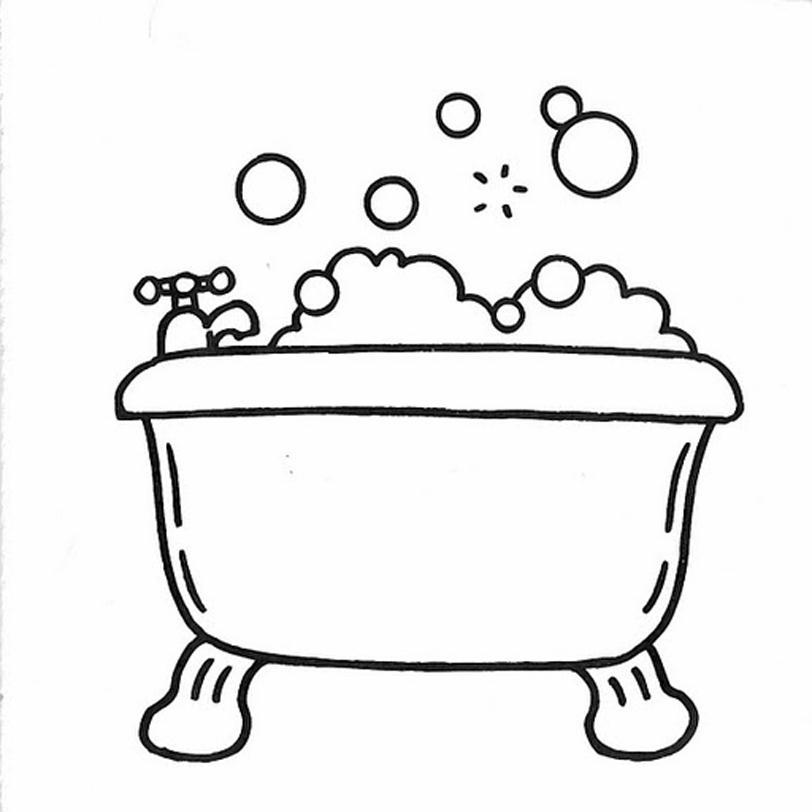 Bagno 4 disegni per bambini da colorare - Disegni per casa ...