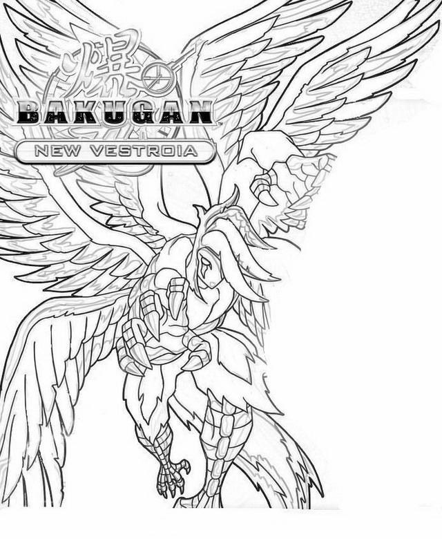 Bakugan 8 disegni per bambini da colorare for Salvia da colorare