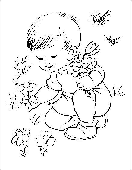 Bambini 2 disegni per bambini da colorare for Disegno bambina da colorare