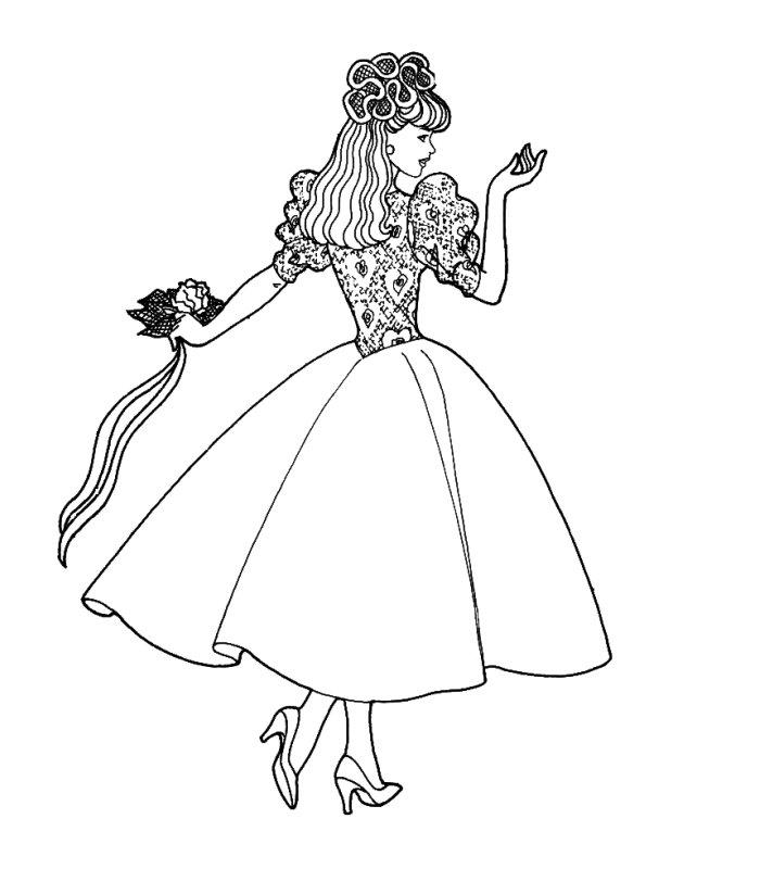 Barbie sposa 2 disegni per bambini da colorare for Cip e ciop immagini da colorare