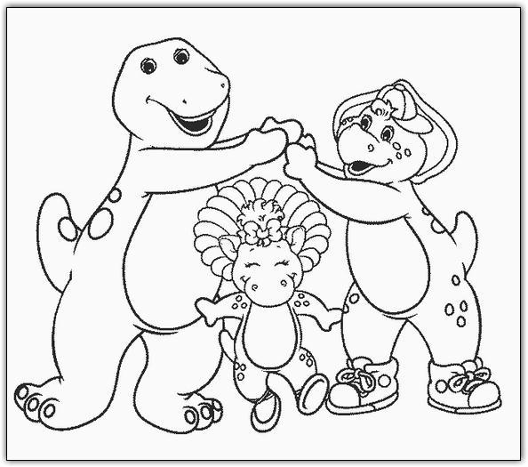 Barney 3 disegni per bambini da colorare for Barney halloween coloring pages