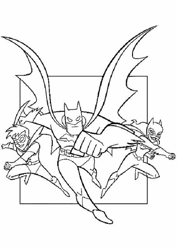 batman 7 disegni per bambini da colorare