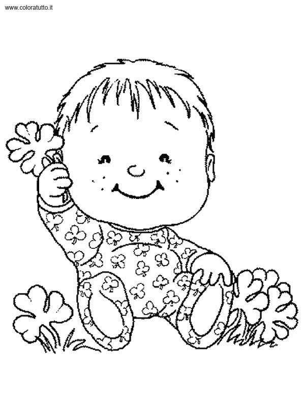 Bebe 8 disegni per bambini da colorare for Neonati da colorare e stampare