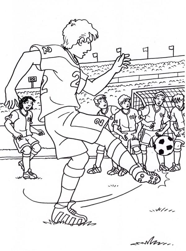 Calcio 6 disegni per bambini da colorare - Stampare pagine da colorare ...