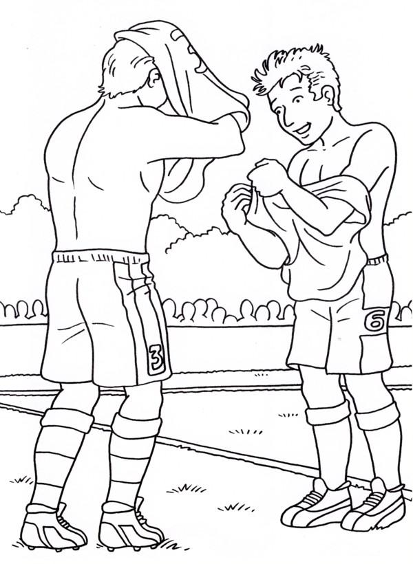 Calcio 6 disegni per bambini da colorare - Ragazzi da colorare in immagini ...