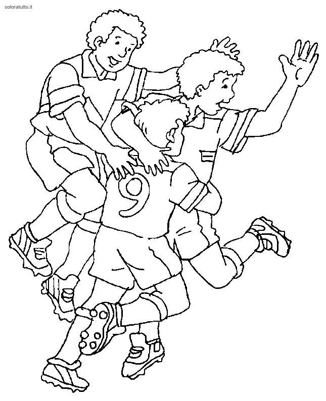 Calcio disegni per bambini da colorare for Disegni della roma da colorare