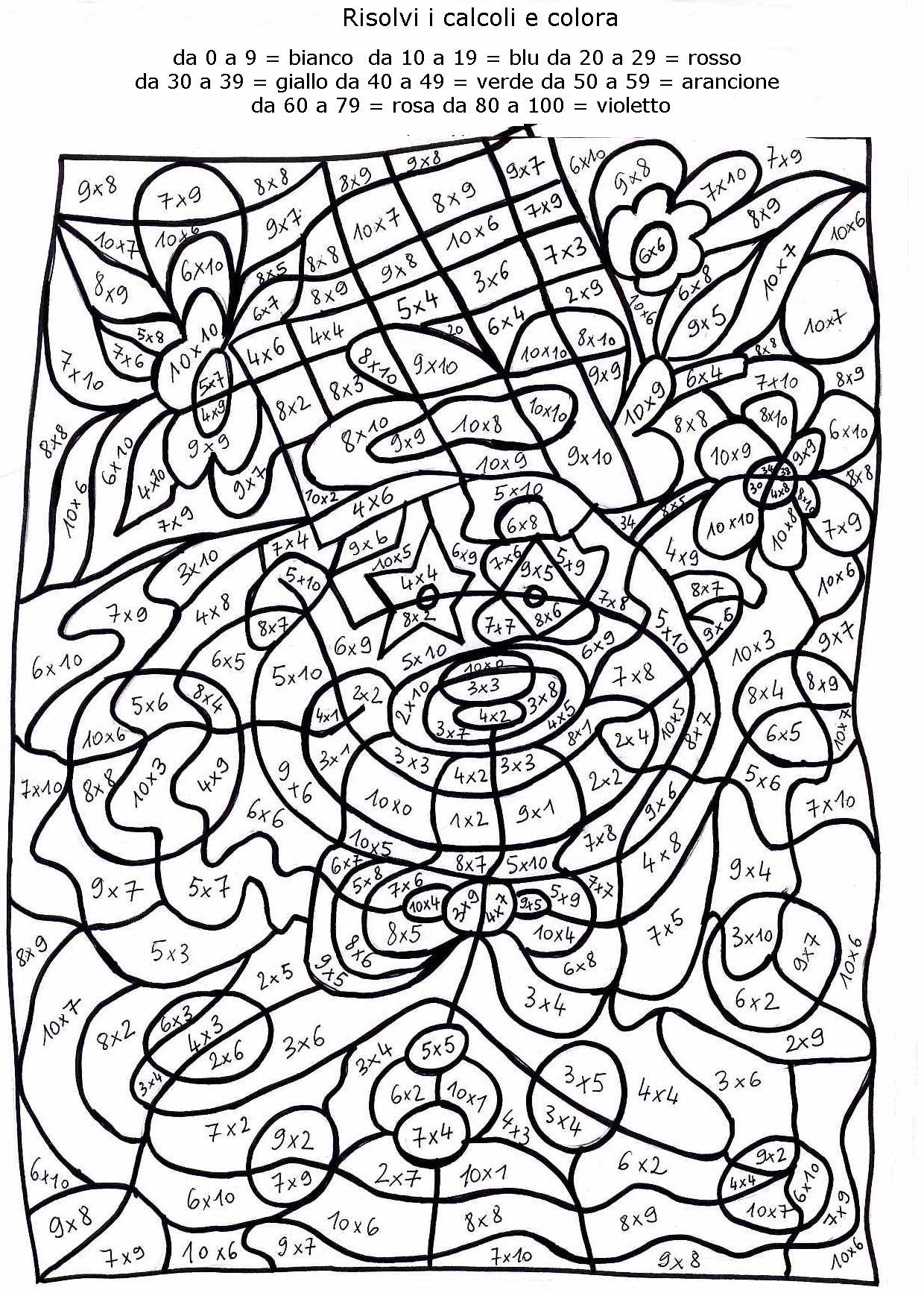 Calcola colora 2 disegni per bambini da colorare - Immagini pipistrello da stampare ...