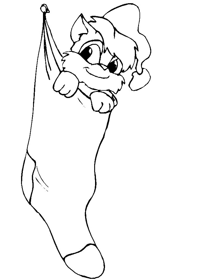 Coloring Page Of A Christmas Stocking