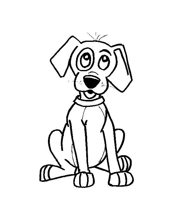 Cani 3 disegni per bambini da colorare for Cane disegno facile