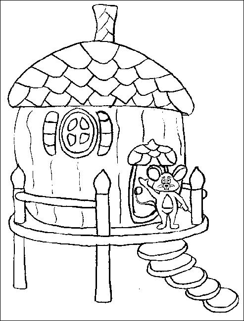 Case 4 disegni per bambini da colorare for Casa immagini da colorare