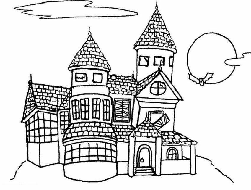 Immagini Castelli Da Colorare.Castelli Disegni Per Bambini Da Colorare