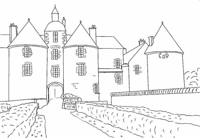Castelli disegni per bambini da colorare for Disegni di casa alta