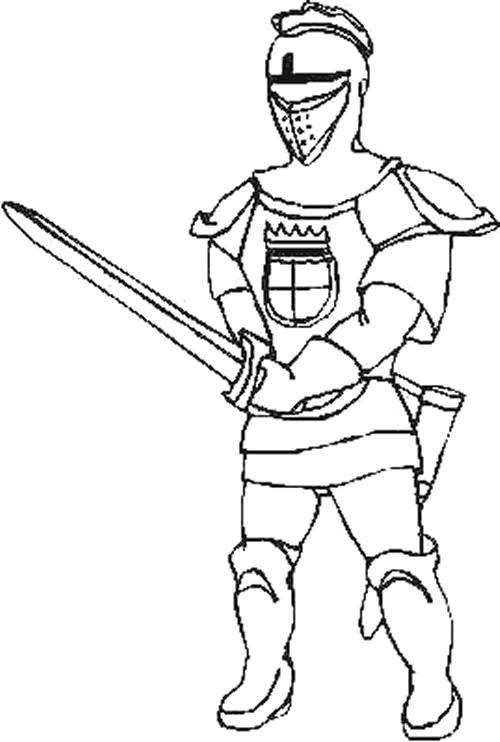 cavalieri 5  disegni per bambini da colorare