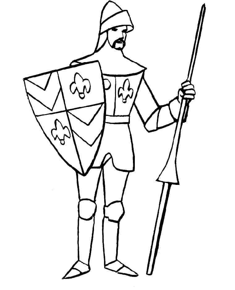 Cavalieri 8 disegni per bambini da colorare for Disegno pagliaccio da colorare