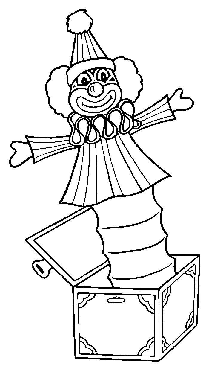 Circo disegni per bambini da colorare for Disegno pagliaccio da colorare