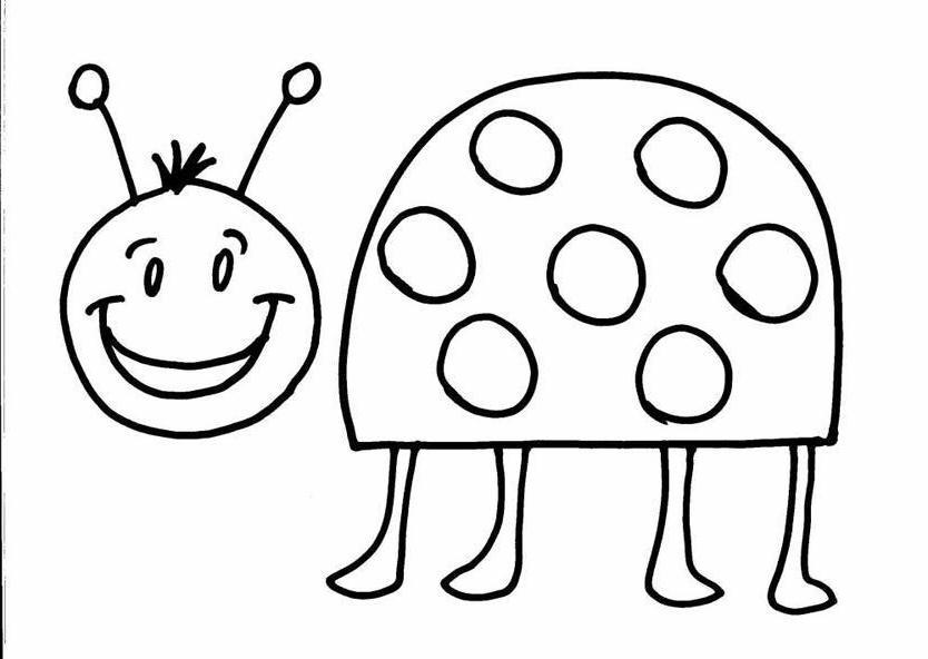 coccinelle  disegni per bambini da colorare