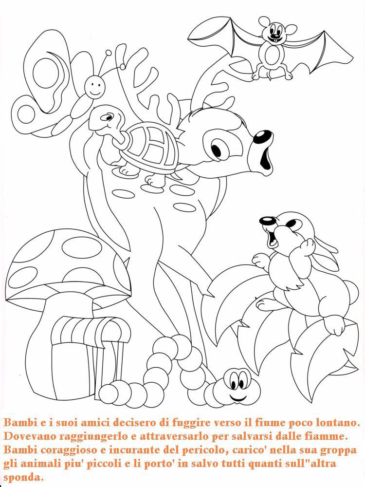 Colora fiaba bambi 3 disegni per bambini da colorare for Masha e orso stampa e colora