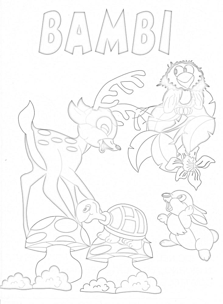 colora fiaba bambi 5  disegni per bambini da colorare