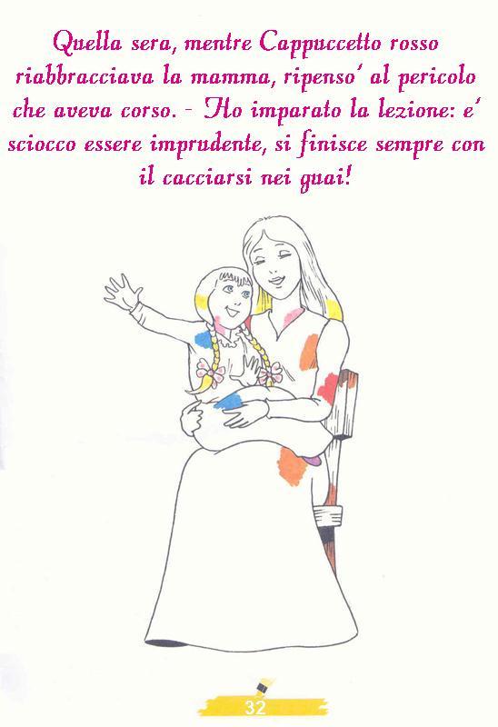 DISEGNI FIABA DA COLORARE CAPPUCCETTO ROSSO 6, disegni per bambini da ...