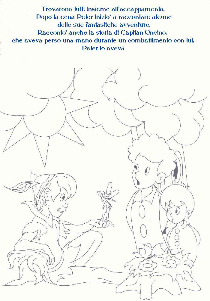 Disegni fiaba da colorare peter pan 2 - Peter pan colorare pagina di colorazione ...