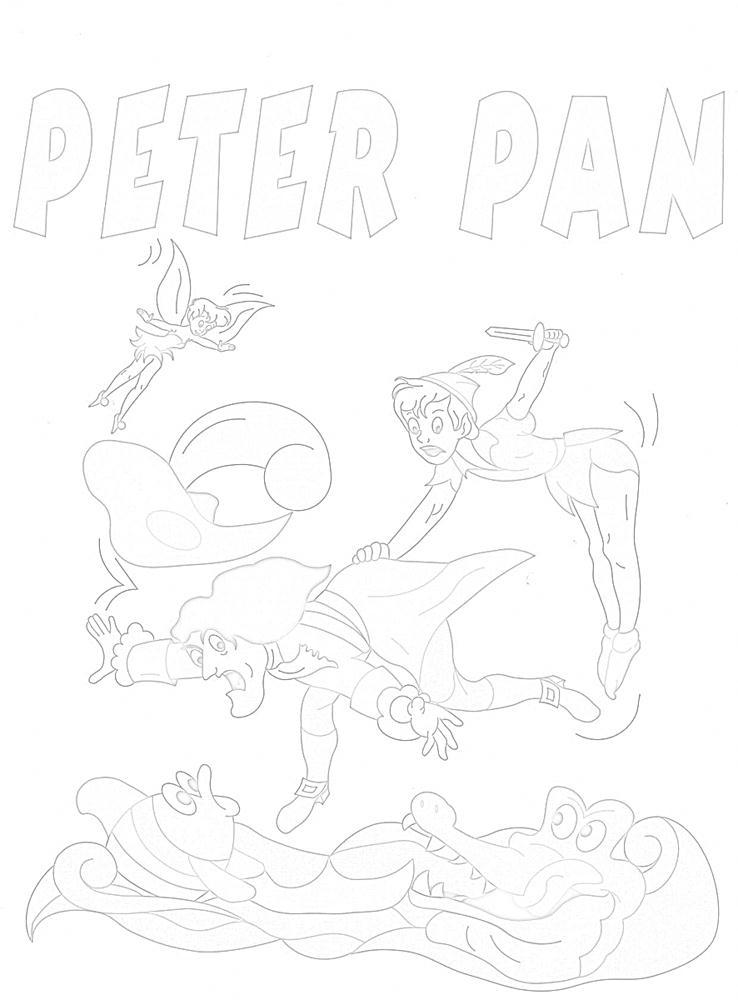 Disegni fiaba da colorare peter pan 1 disegni per bambini for Disegni peter pan