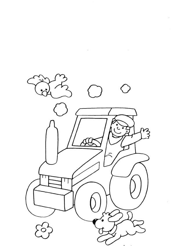 Contadino 2 disegni per bambini da colorare for Disegno cane per bambini