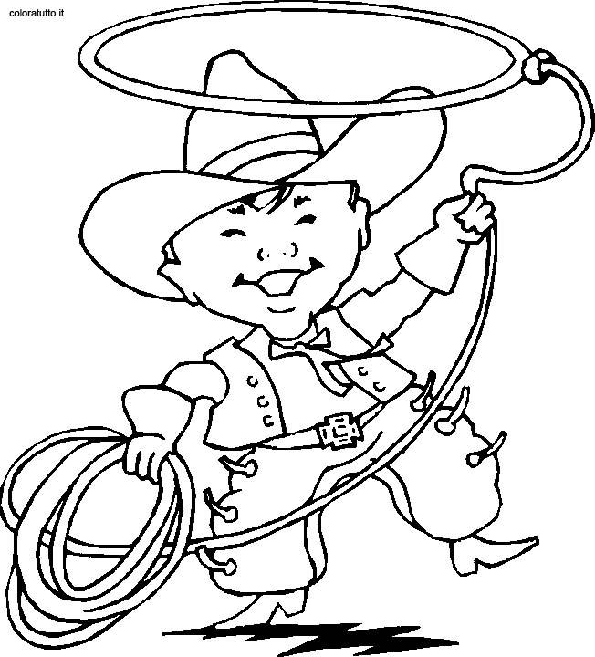 Cow boy 18 disegni per bambini da colorare - Dessin de cowboy ...