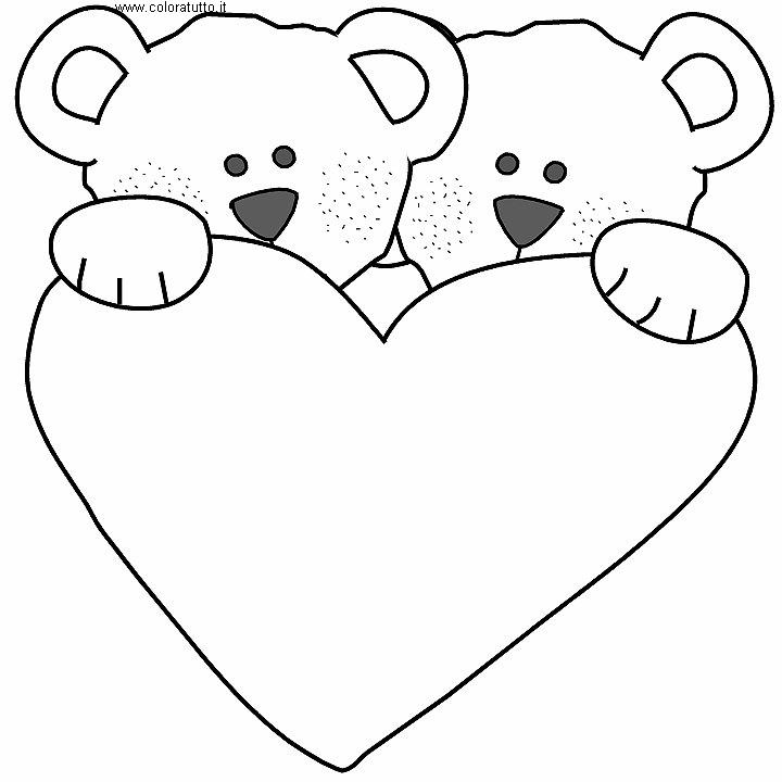 Cuori disegni per bambini da colorare for Disegni da copiare a mano facili