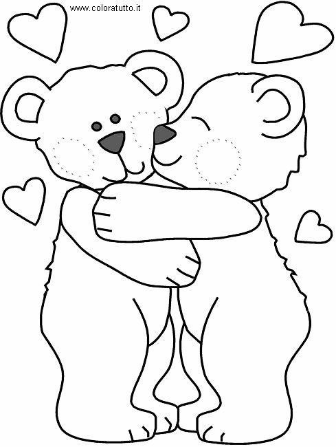 Cuori 2 disegni per bambini da colorare for Disegni da colorare con cuori