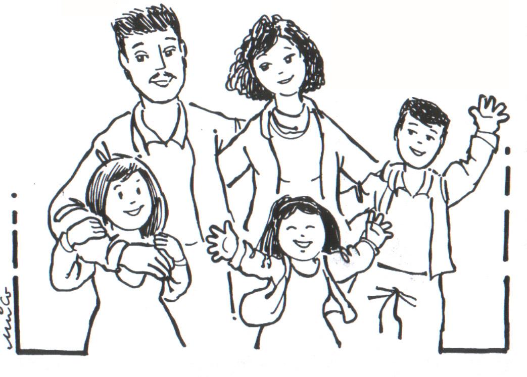 Famiglia 7 Disegni Per Bambini Da Colorare