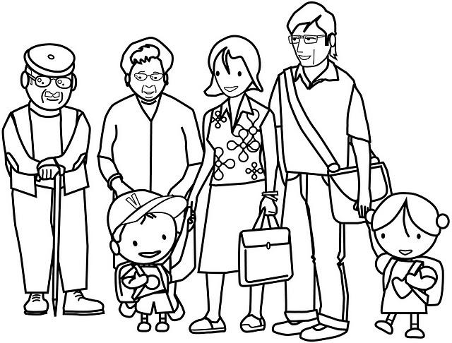 Famiglia 8, Disegni Per Bambini Da Colorare