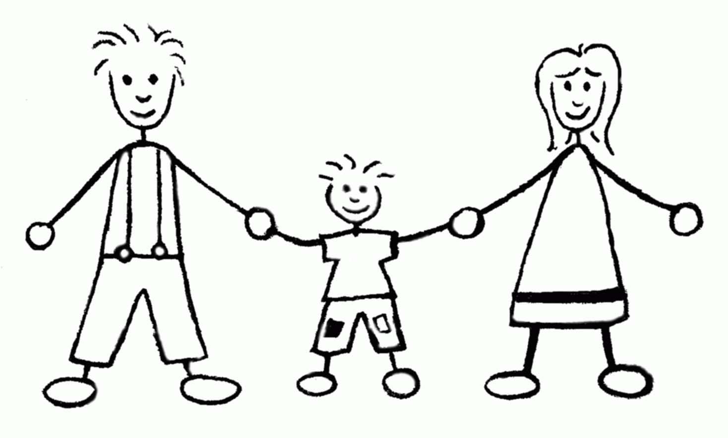Famiglia 8 disegni per bambini da colorare - Coloriage de la famille ...