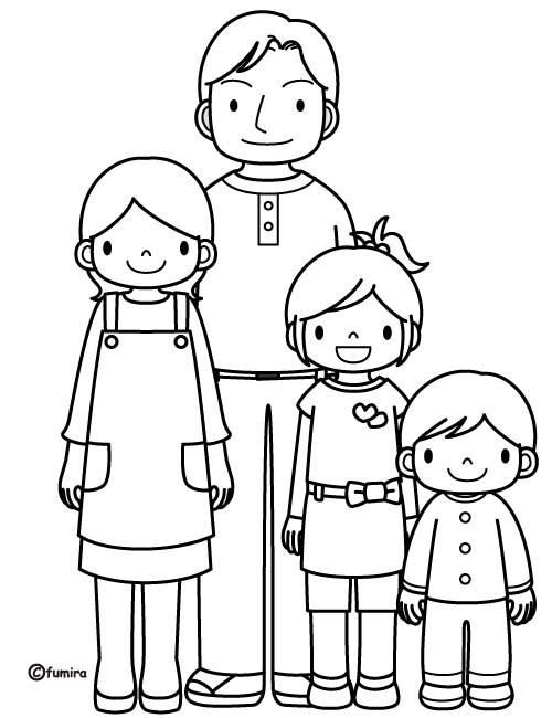 Famiglia 9 disegni per bambini da colorare - Coloriage famille panda ...