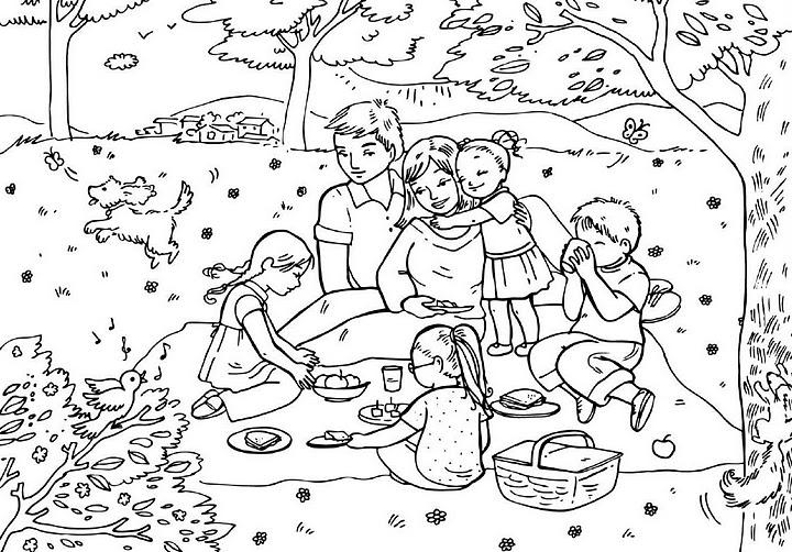Famiglia 14 disegni per bambini da colorare - Coloriage kinder ...