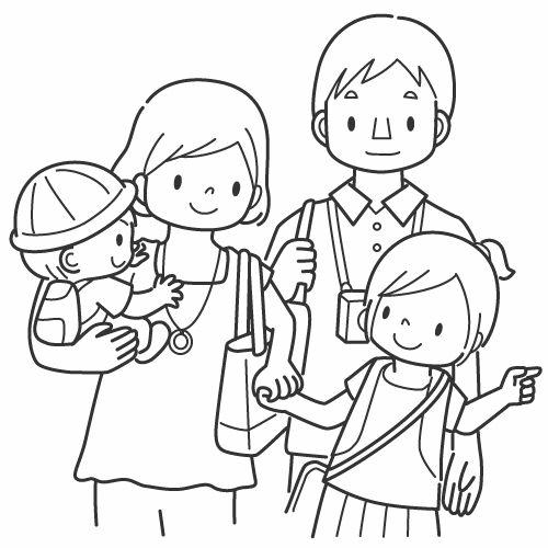 Index 15 on coloring pages for family