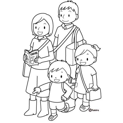 Famiglia 15, Disegni per bambini da colorare