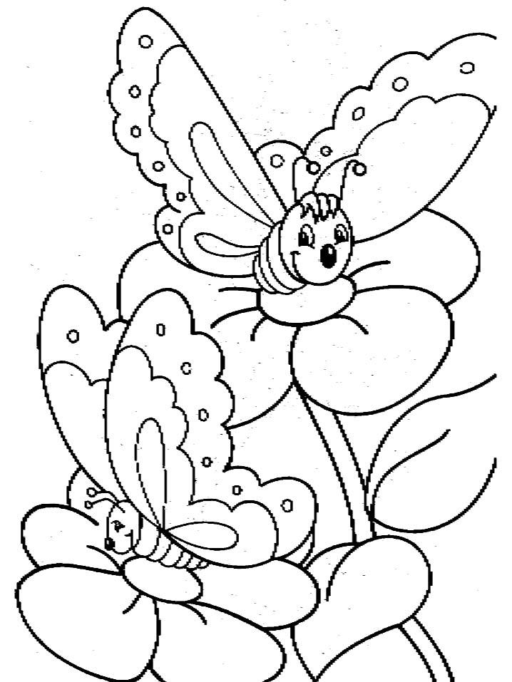 Farfalle 4 disegni per bambini da colorare for Papillon per bambini