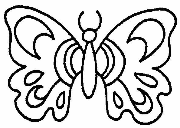 Farfalle 5 disegni per bambini da colorare for Cose belle da disegnare