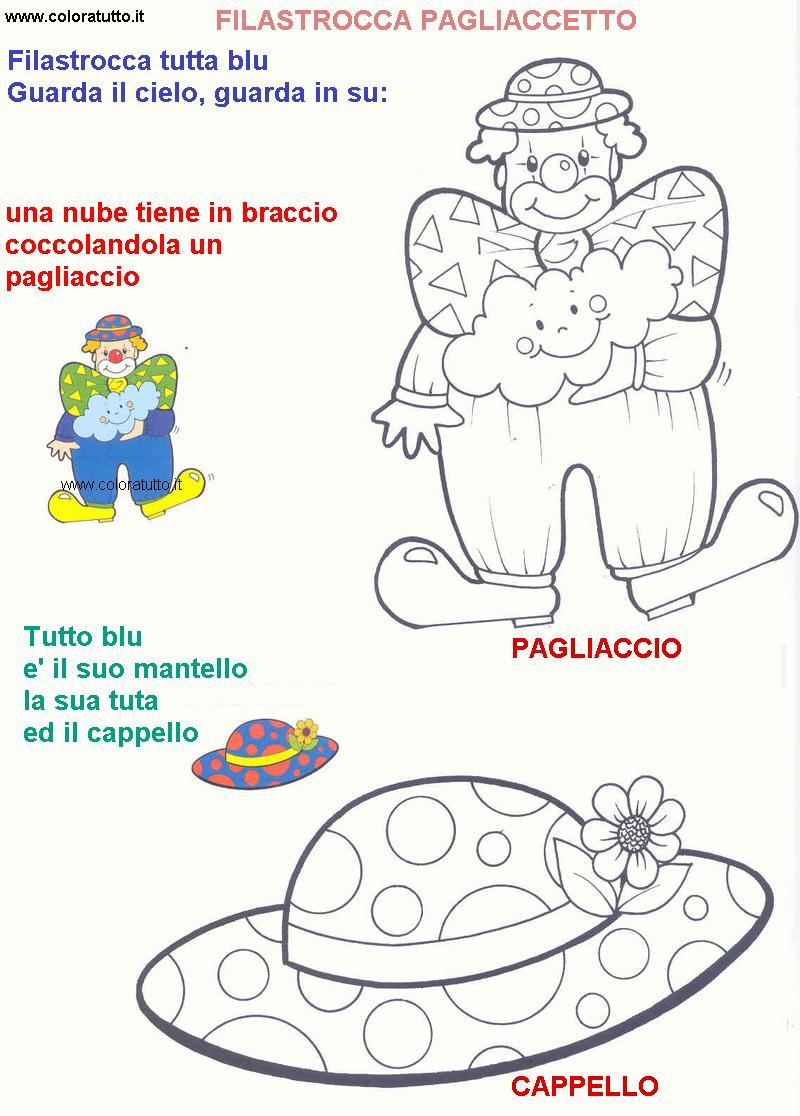Filastrocche disegni per bambini da colorare for Calciatori da colorare per bambini